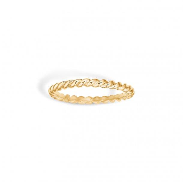 9 kt. Snoet guld ring