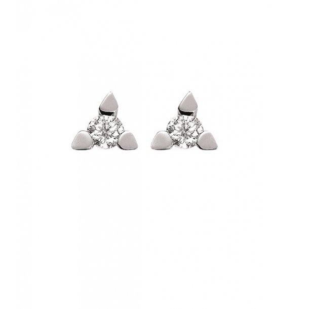 Kronprinsesse hvidgulds ørestikker