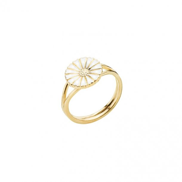 Marguerit ring forgyldt