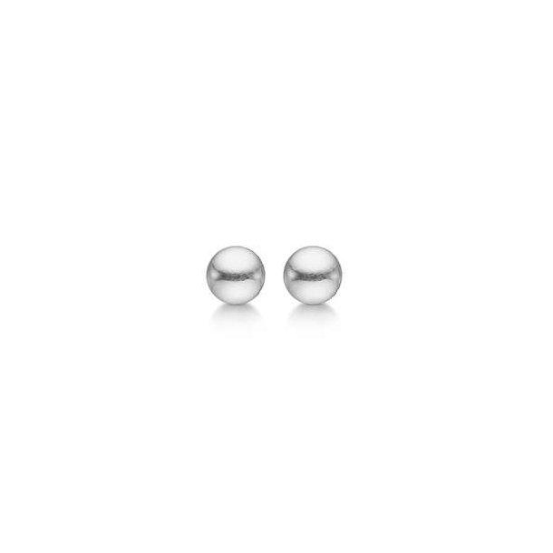 Sølv kugle ørestikker 5 mm
