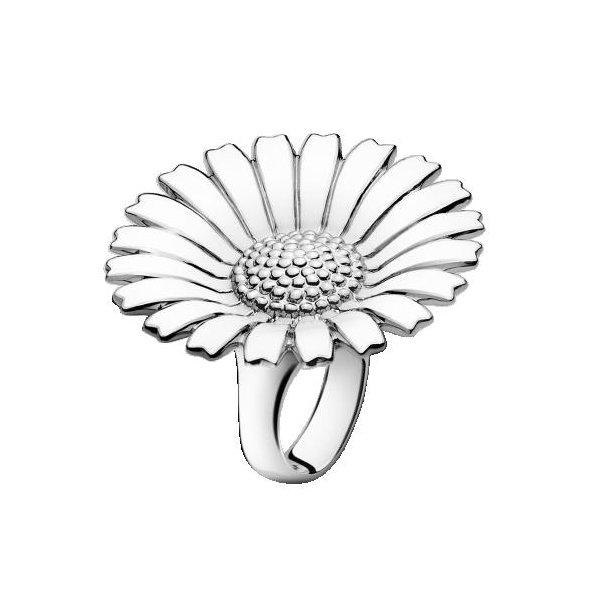 Hvid Daisy ring 33 mm