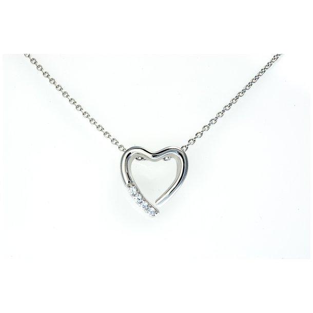hjerte halskæde sølv