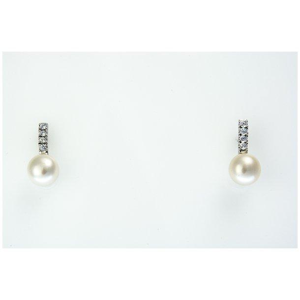 Sølv perle ørestik