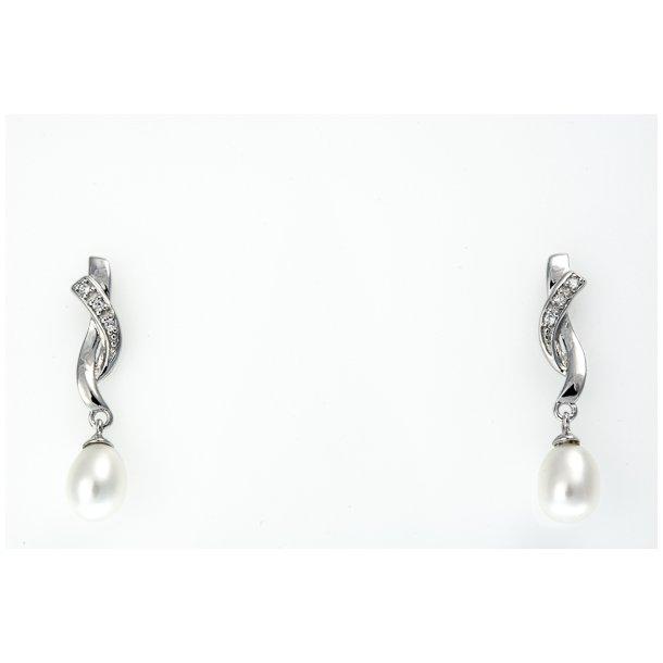Sølv ørehænger perle