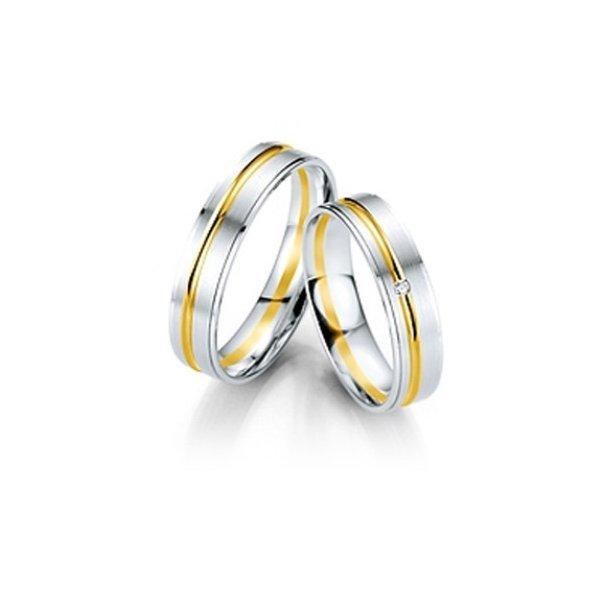 Hvidgulds vielsesringe/forlovelse