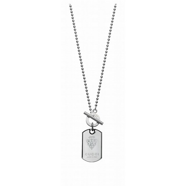 Gucci sølv halskæde med dogtag.