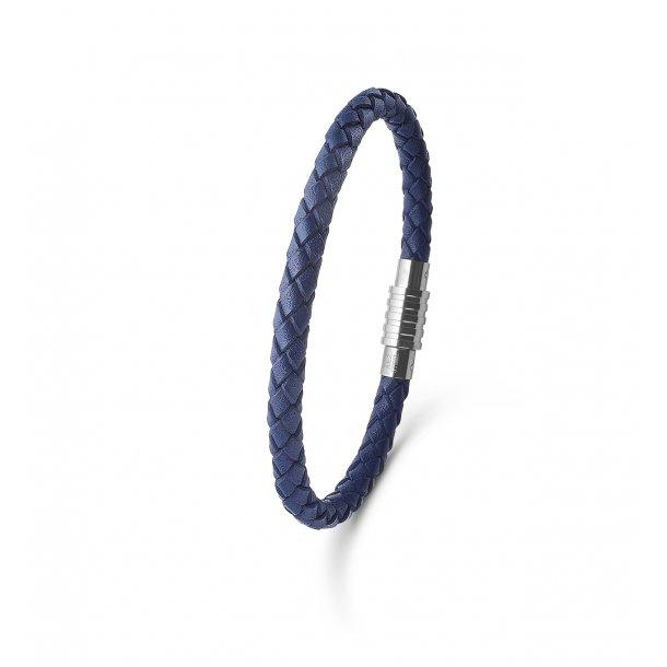 Mens Jewellery blåt læderarmbånd