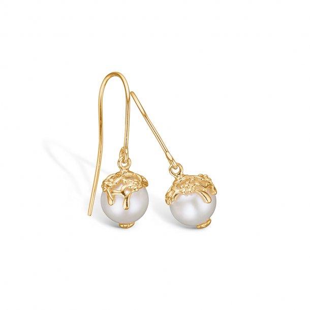 9 kt. perle ørehænger