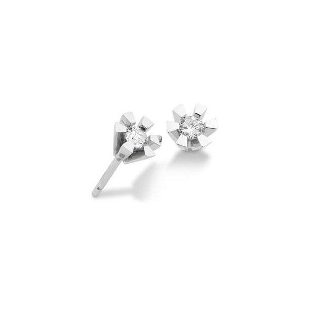14 kt. diamant ørestikker m. 0,40 ct.