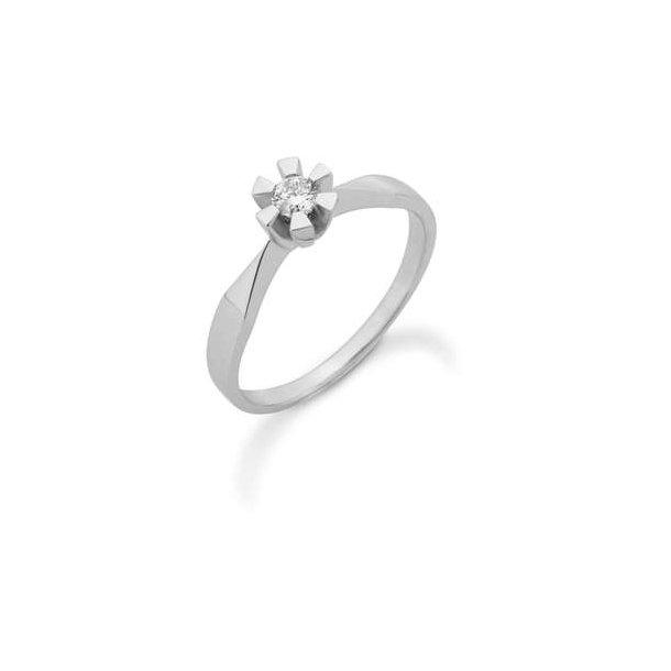 Diamant hvidguldsring