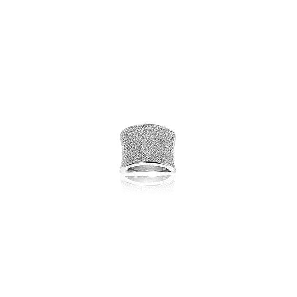 Sif Jakobs bred sølv ring