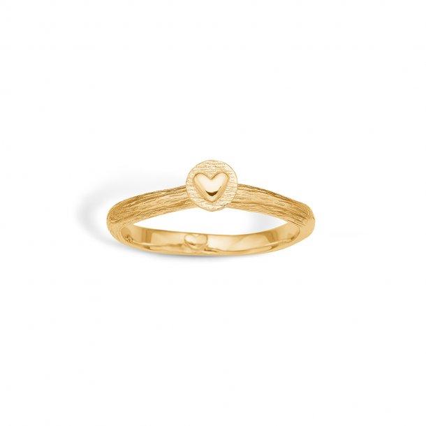9 karat Rustik ring med hjerte