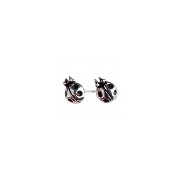 Mariehøne øreringe