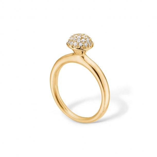 14 karat ring med brillanter