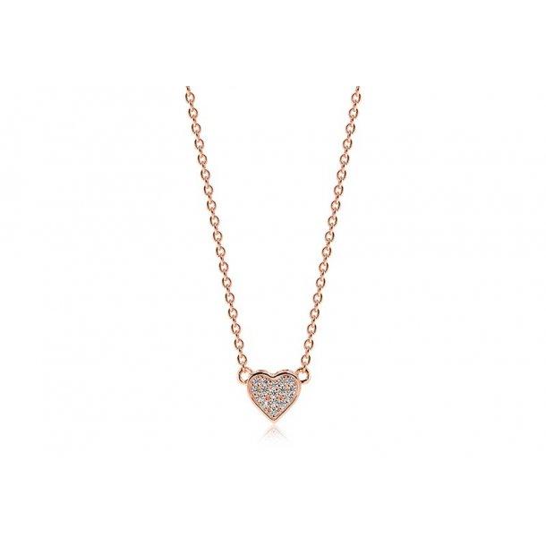Sif Jakobs rosaforgyldt sølv halskæde
