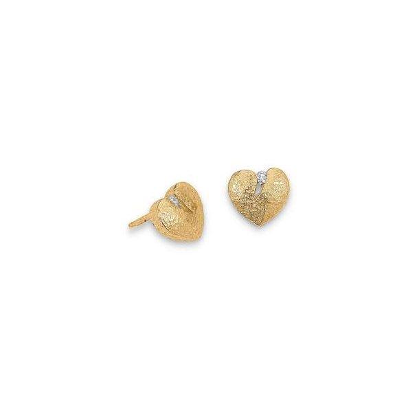 Hjerte ørestikker med diamant