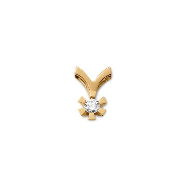 8 karat diamant vedhæng 0,03 ct.