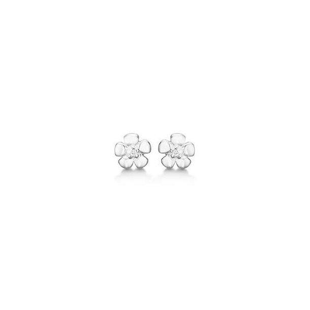 Blomster ørering med sten