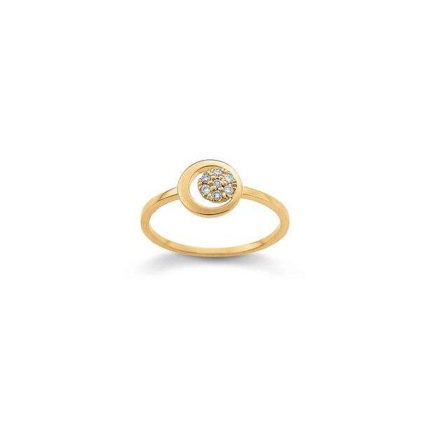 Cirkel guld ring