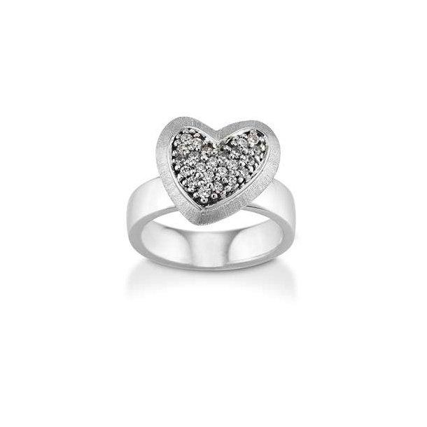 Hjerte ring med mange sten