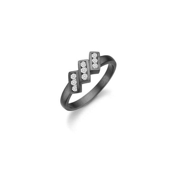 Oxyderet sølv ring