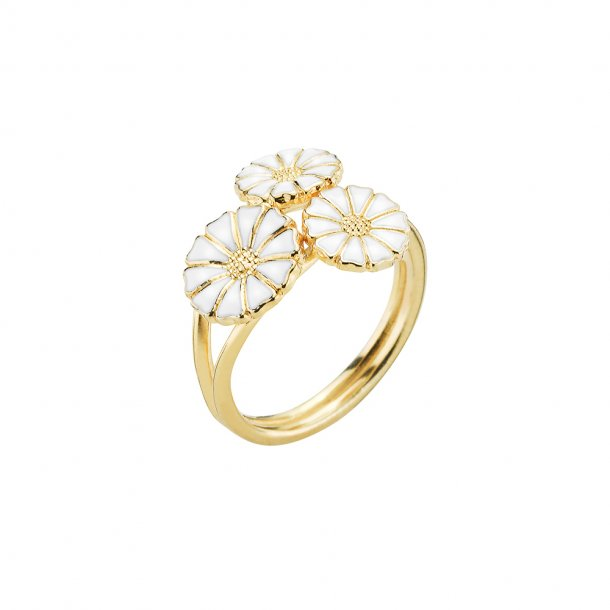 Marguerit ring 3 blomster