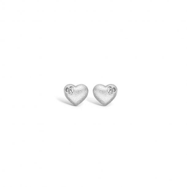 Hjerte ørering i sølv