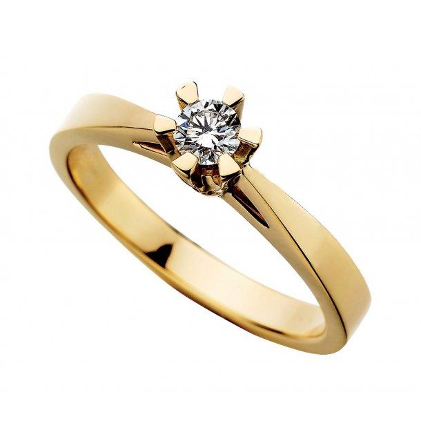 Prinsesse ring 0,03 ct.