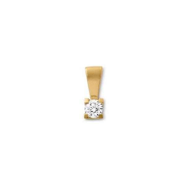 14 karat diamant vedhæng