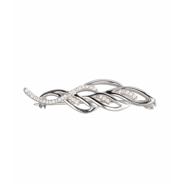 Broche i sølv med zirkonia
