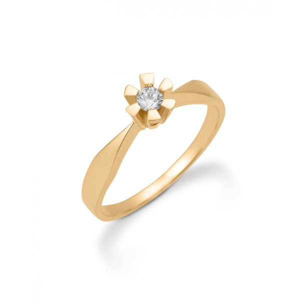 14 karat Eternity ring med 0,15 carat