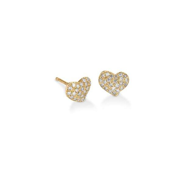 Hjerte ørestikker med diamanter