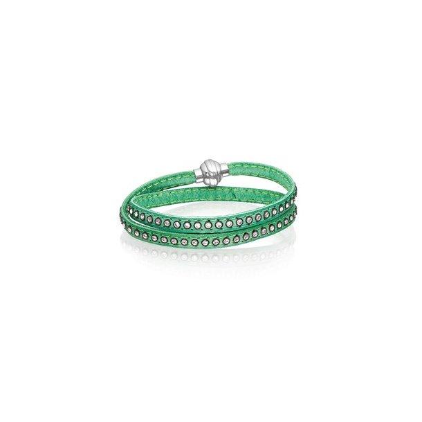 Grønt læderarmbånd
