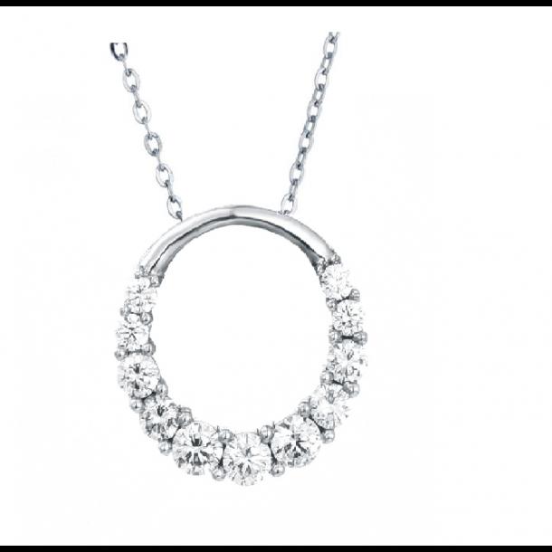 Cirkel halskæde med zirkon