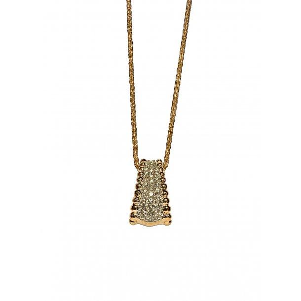 14 karat guld diamant halskæde