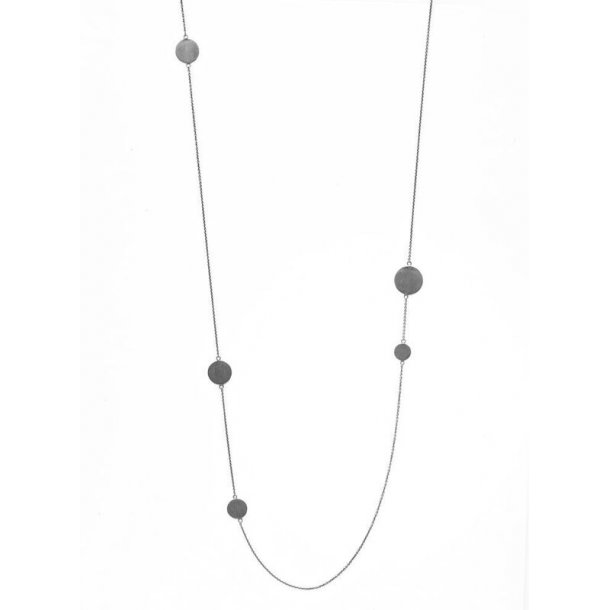 Oxyderet sølv halskæde