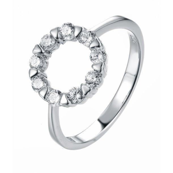 Cirkel ring i sølv