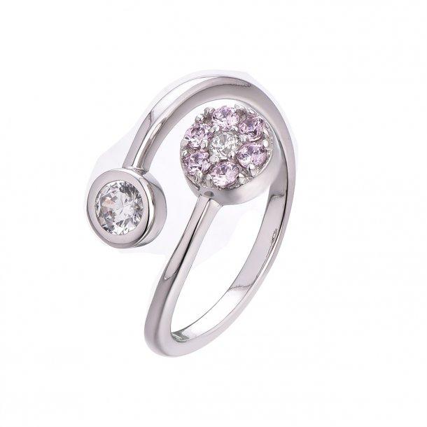 2 delt sølv ring