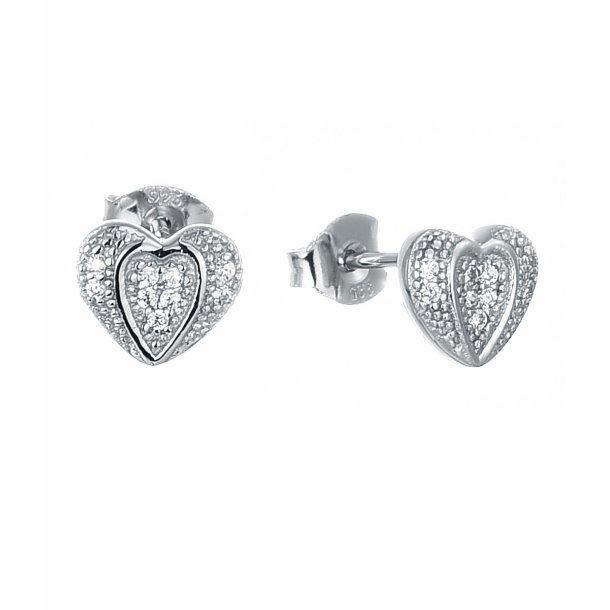 Paveret hjerte øreringe