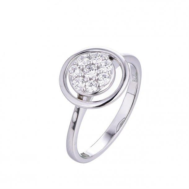 Cirkel ring med sten i midten