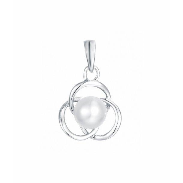 Perle vedhæng i sølv