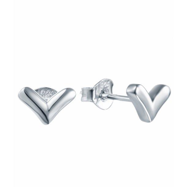 Enkel sølv ørering