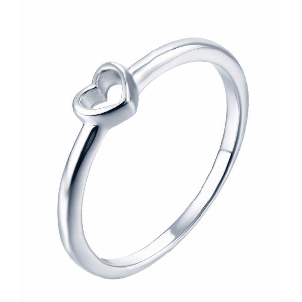 Lille enkel hjerte ring