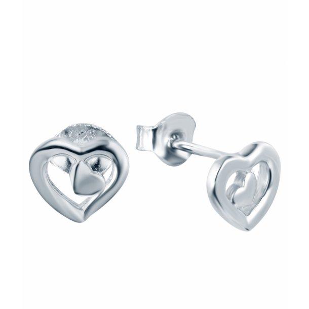 Hjerte i hjerte ørering