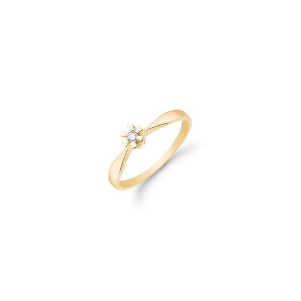 14 karat Eternity ring med 0,05 ct.