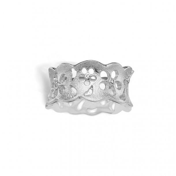 Rhodineret sølv ring