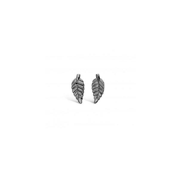 Oxyderet sølv blade ørestikker