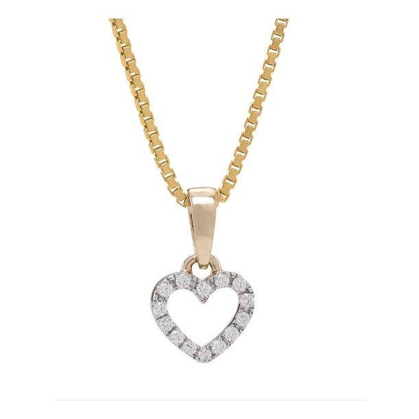 Diamant hjerte vedhæng