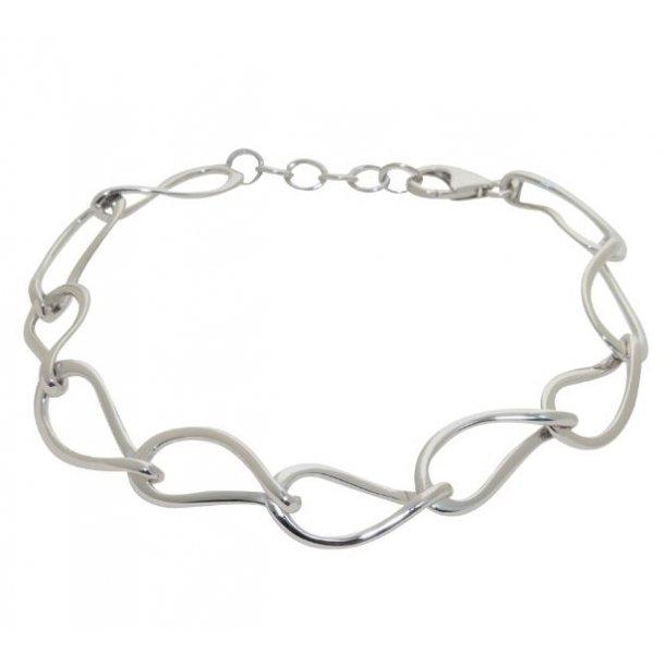 Rhodineret sølv armbånd