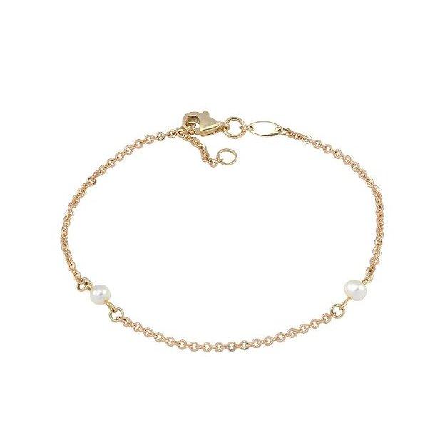 8 karat guld armbånd med ferskvandsperler